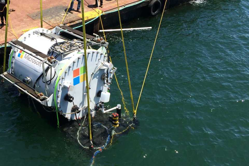 Microsoft собирается построить экспериментальное хранилище данных на морском дне