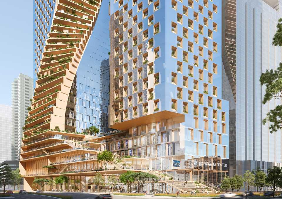 В конкурсе проектов самого высокого небоскреба Австралии победила UNStudio
