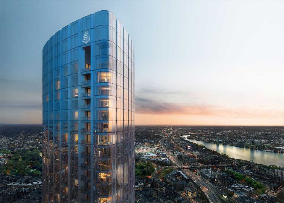 Самый высокий в Бостоне жилой небоскреб достиг проектной высоты