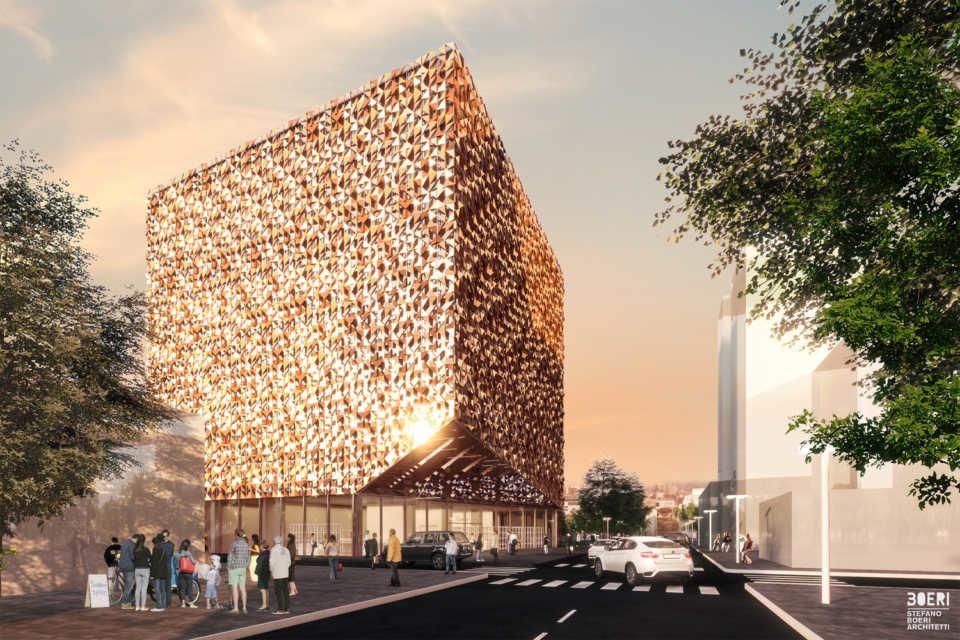 В Тиране начато строительство Blloku Cube по проекту Stefano Boeri Architetti
