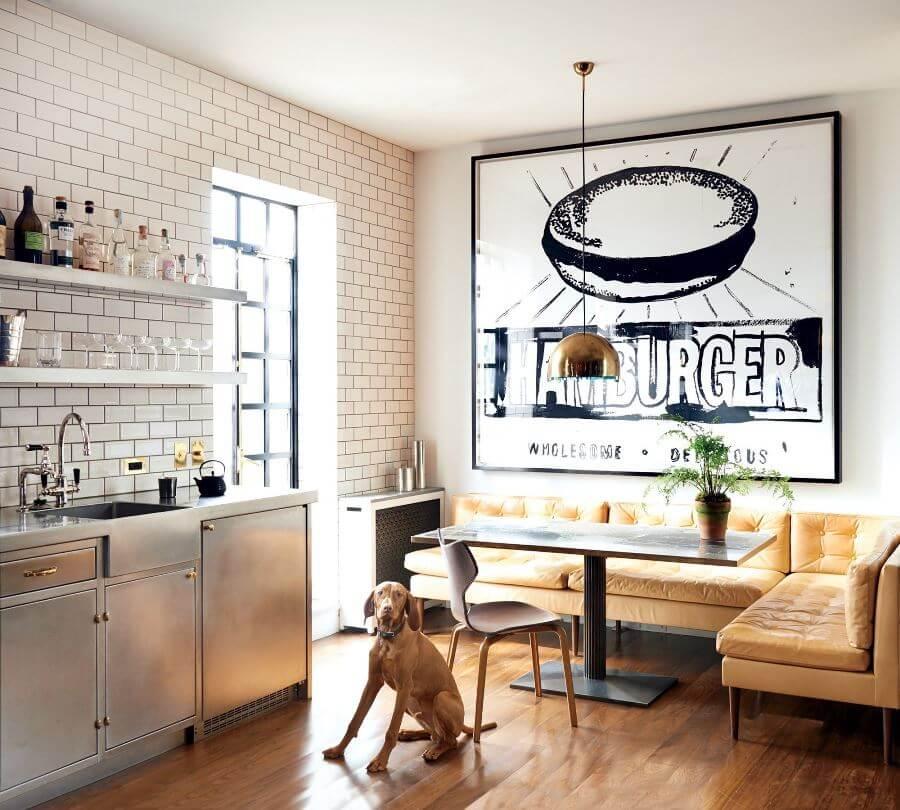 Фото дивана в интерьере кухни в современном стиле